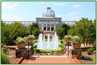 the Lewis Ginter Botanical Gardens