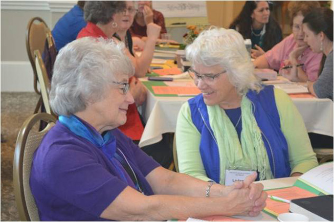 Opportunities to share with each other in table groups or one-on-one enhanced the focus of strong women relationships.