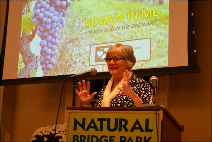 """Marlene Bogard, MW USA Exec. Dir., shares enthusiastically on the theme of """"Remain in Me – Finding God in the Ordinary."""""""
