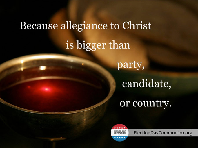 Because allegiance to Christ is bigger than party, candidate, or country.