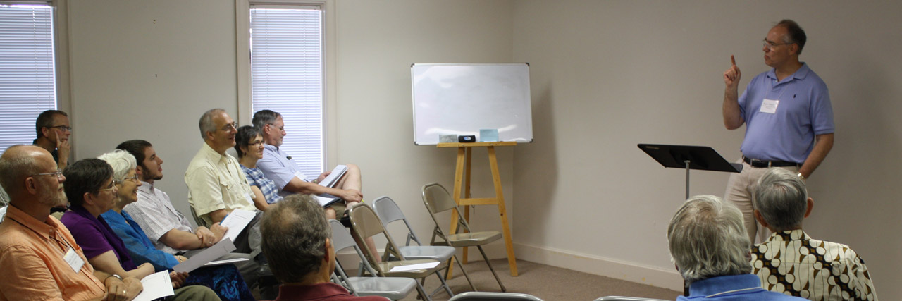 Ryan Ahlgrim leads a workshop on Five approaches to preaching a biblical story.