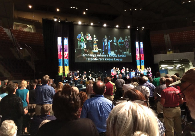 Worship at Mennonite World Conference is led by an international team. Photo: Mary Jo Lehman