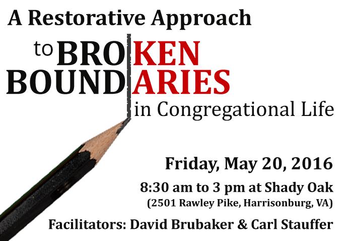 Restorative Approach to Broken Boundaries in Congregational Life