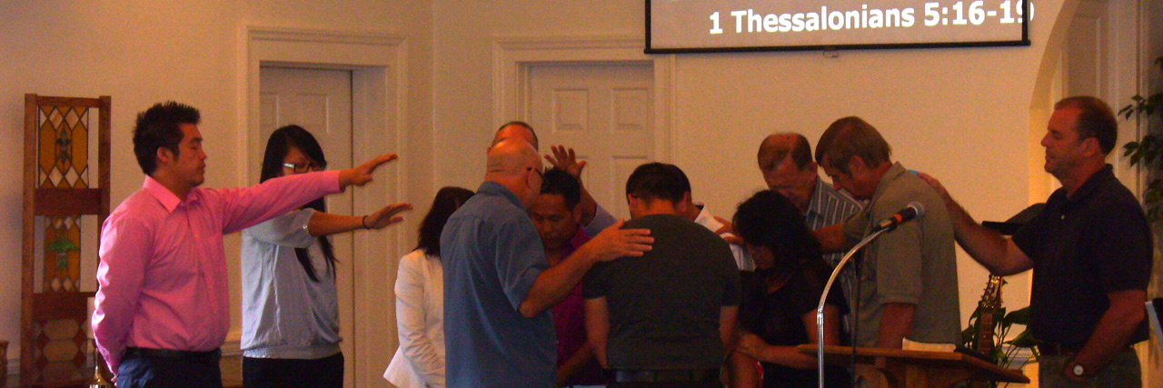 A leader in the Peace Fellowship, a Hmong church in Hickory, N.C., is commissioned for ministry. />,