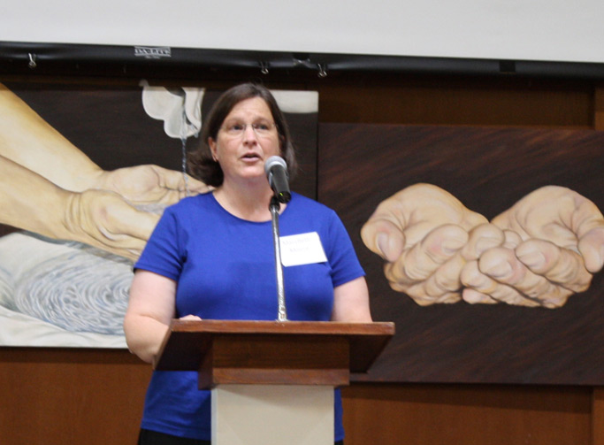 MaryBeth Heatwole Moore shared about her church's ministry to the deaf community.