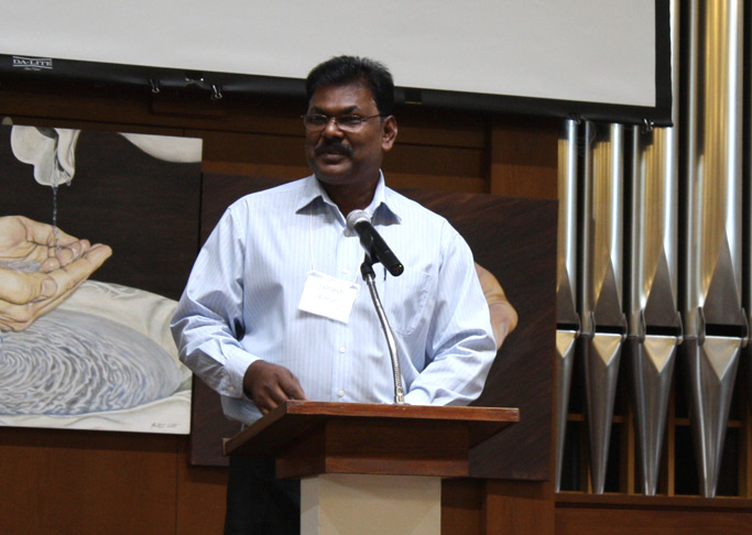 Ramesh Jaimani, a fraternal delegate from Trinidad & Tobago, shared a missional story on Friday evening.