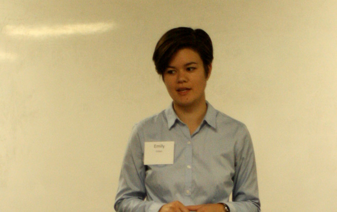 Emily Cohen, a trainer with FaithTrust Institute, led aspects of the Healthy Boundaries training. Photo by Jon Trotter