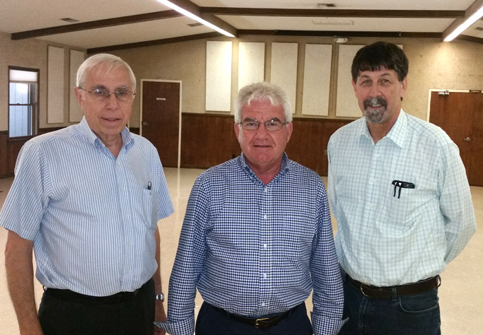 Gordon Zook, Elroy Miller, and Clyde Kratz