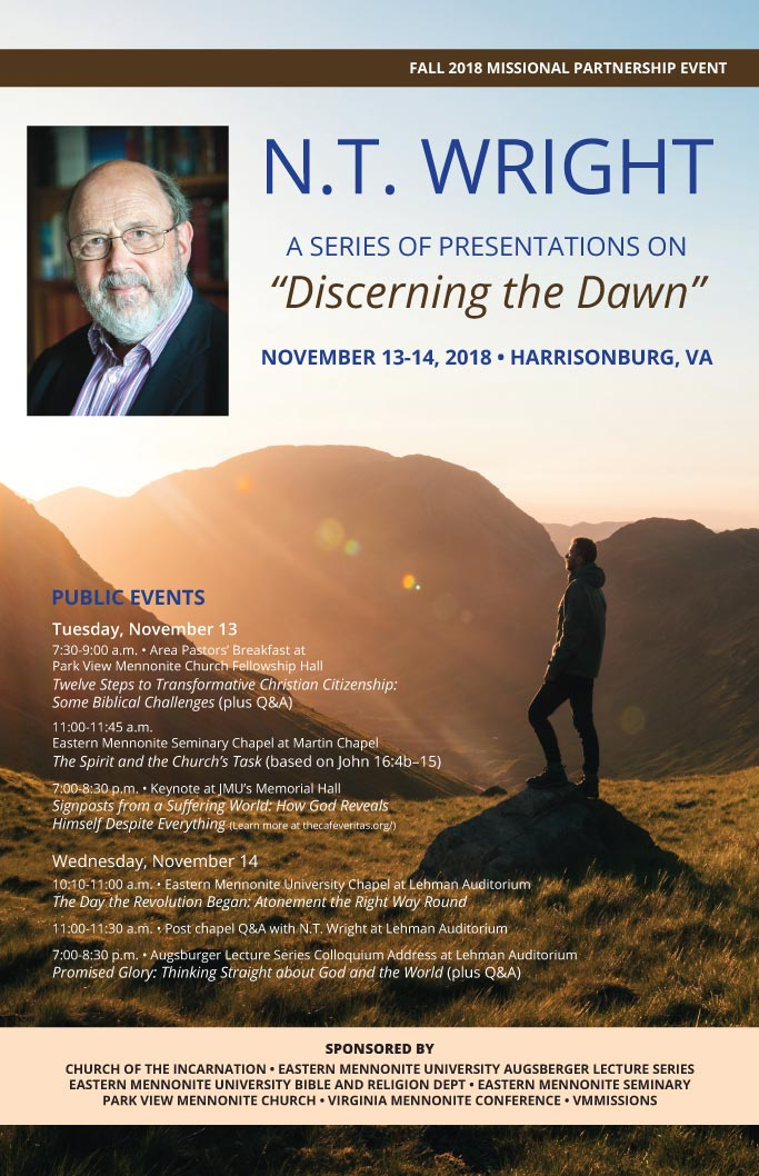 Discerning the Dawn: N.T. Wright Event
