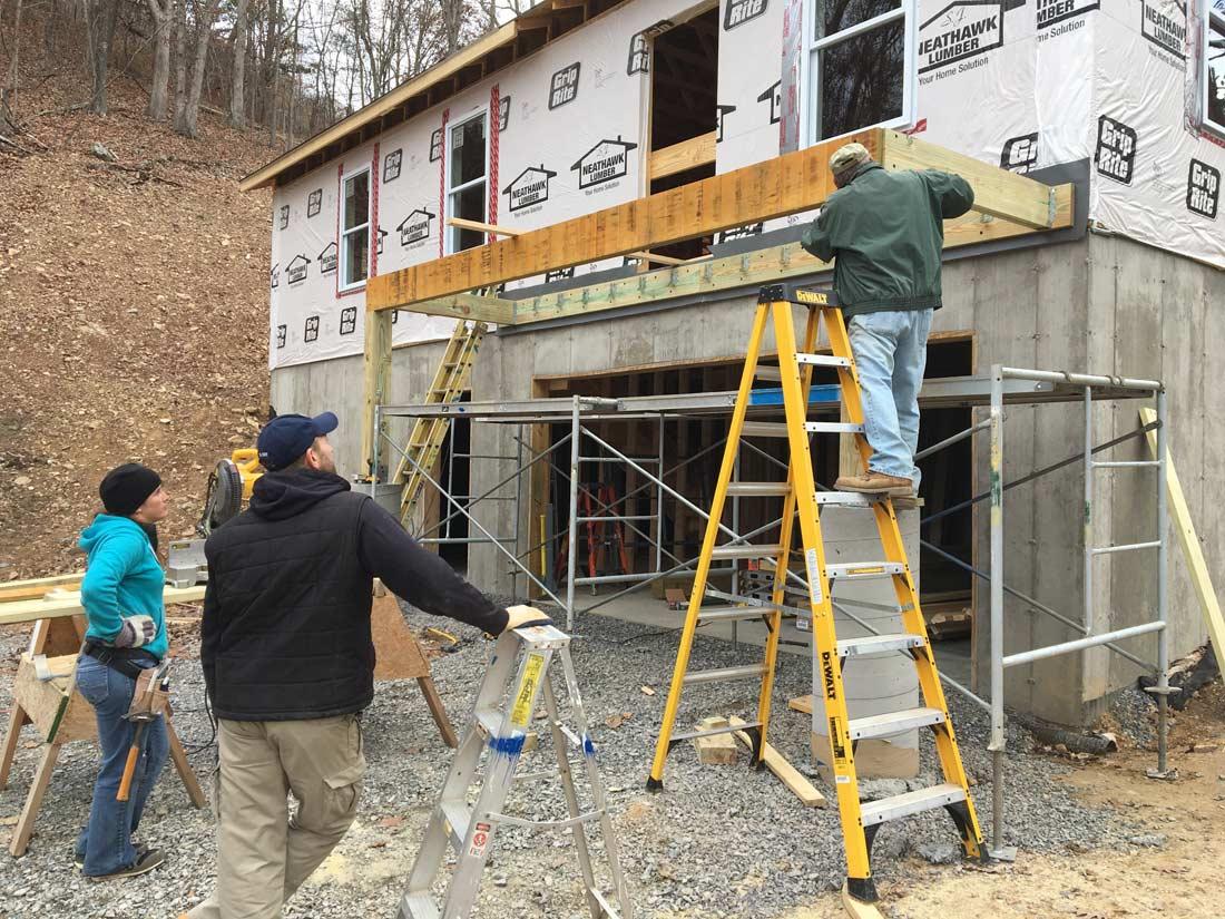 Springdale MDS team builds a deck.