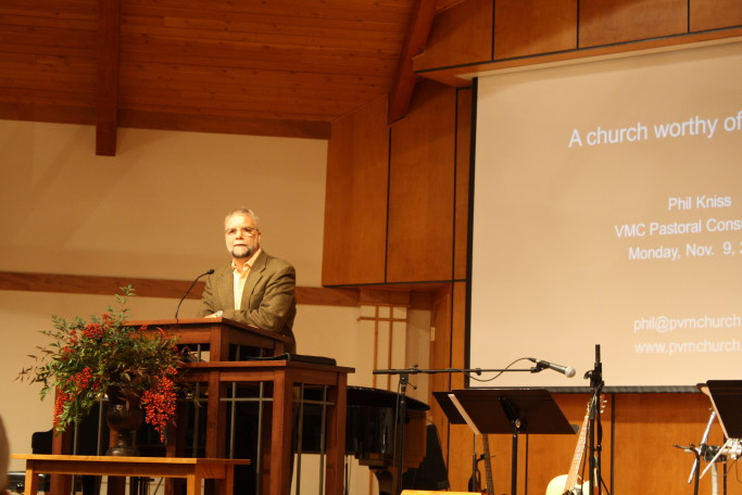 Phil Kniss presents on unity - A Church Worthy of Its Calling
