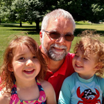 Phil Kniss with two of his grandchildren