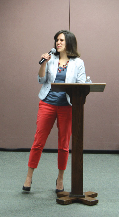 Sarah Ann Bixler  presented Christian Formation Throughout the Life Course at a resource session with congregational delegates at VMC Assembly in July. Photo: Jon Trotter