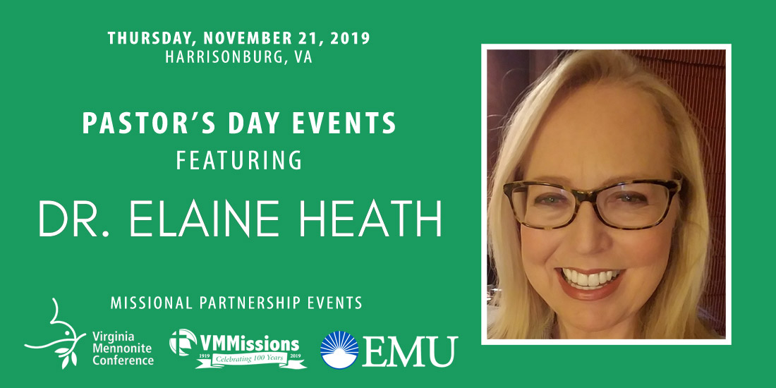 Pastor's Day events with Dr Elaine Heath