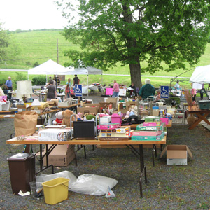Big Spring Mennonite Church hosts an annual yard and bake sale in May as a fundraiser and an outreach to the community. Photo: Big Spring Mennonite Church via Facebook